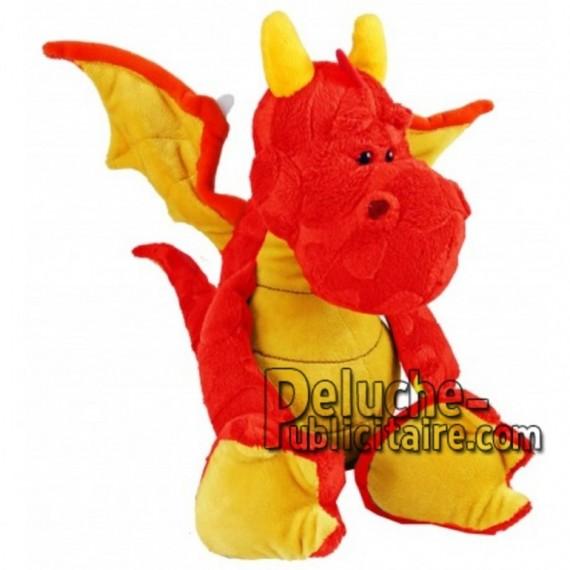 Achat peluche dragon rouge 30cm. Peluche personnalisée.