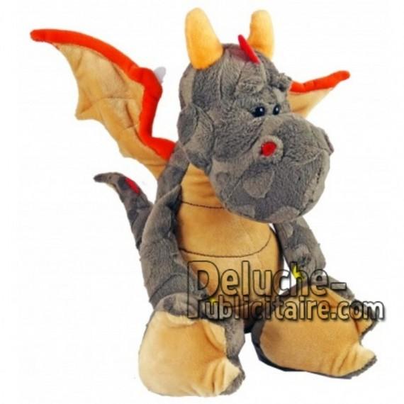 Achat peluche dragon marron 30cm. Peluche personnalisée.