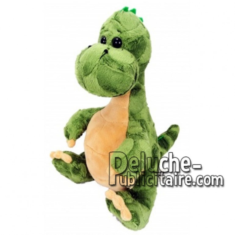 Achat peluche dinosaure vert 30cm. Peluche personnalisée.