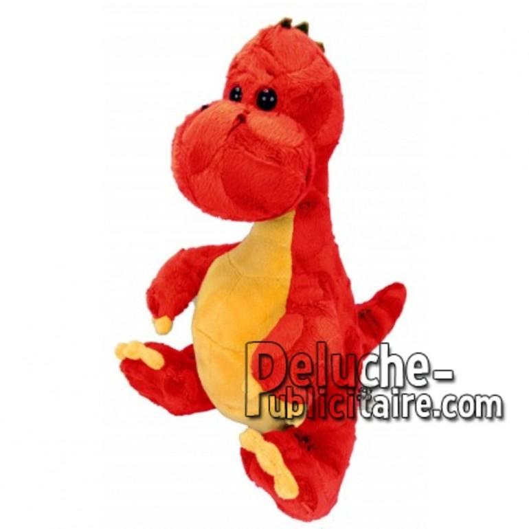 Achat peluche dinosaure rouge 30cm. Peluche personnalisée.
