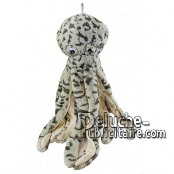 Achat peluche pieuvre gris 36cm. Peluche personnalisée.