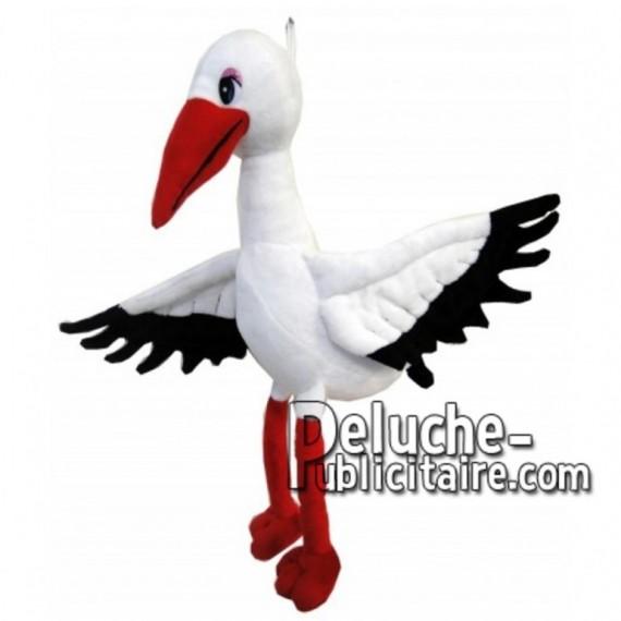 Achat peluche cigogne blanc 33cm. Peluche personnalisée.