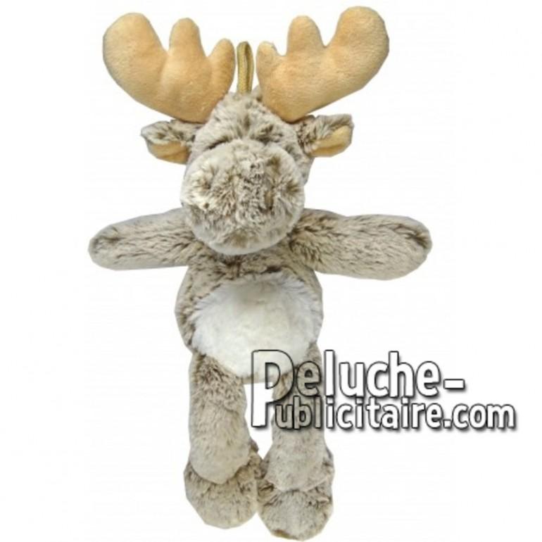 Buy Brown reindeer moose plush 35cm. Personalized Plush Toy.