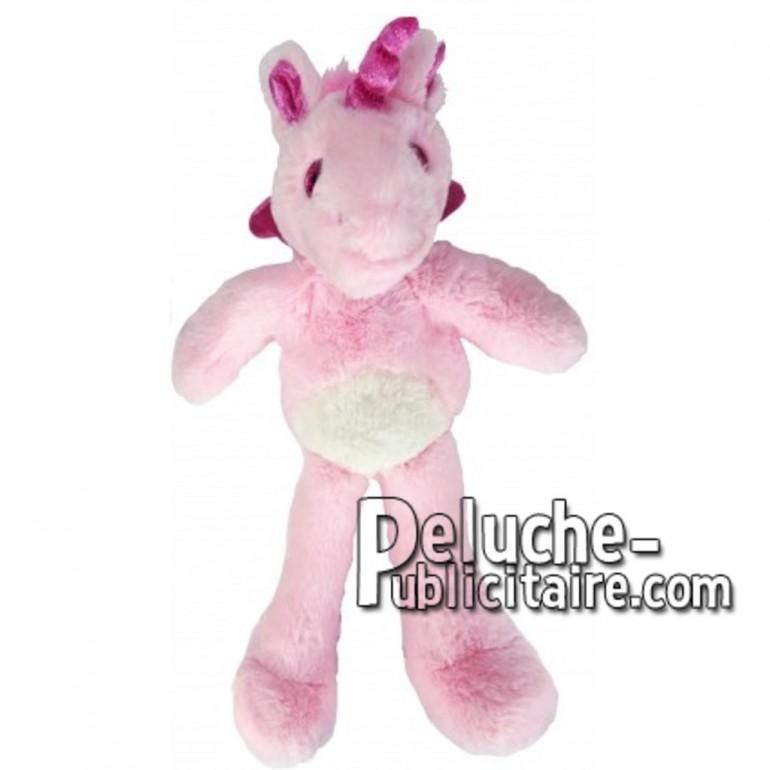 Achat peluche licorne rose 35cm. Peluche personnalisée.