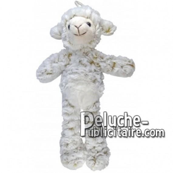 Achat peluche mouton blanc 35cm. Peluche personnalisée.