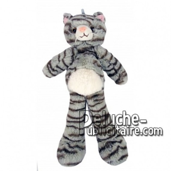 Buy Grey cat plush 35cm. Personalized Plush Toy.