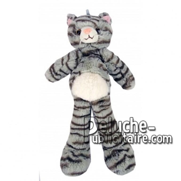 Buy Grey cat plush 35cm. Personalized Plush Toy.