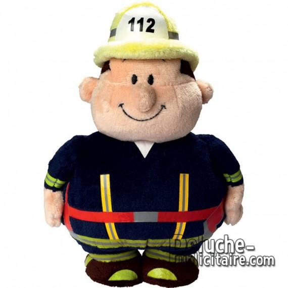 Achat Peluche Monsieur Bert Pompier 18 cm. Peluche à Personnaliser.