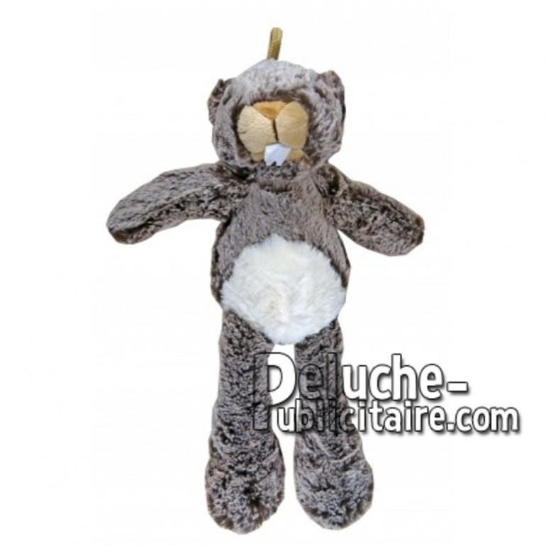 Achat peluche marmotte marron 35cm. Peluche personnalisée.