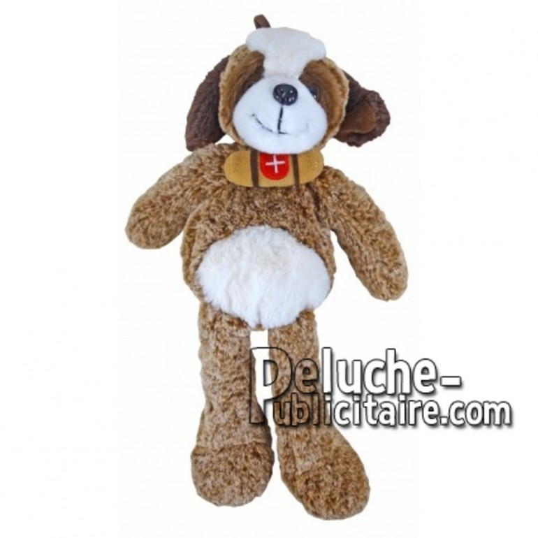 Buy White st bernard dog plush 35cm. Personalized Plush Toy.