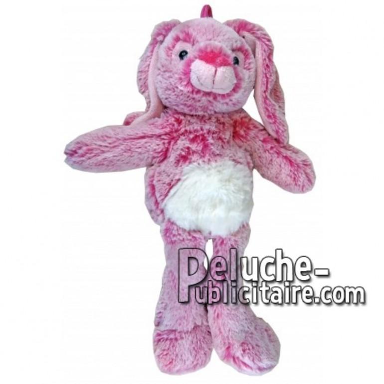 Achat peluche lapin rose 35cm. Peluche personnalisée.