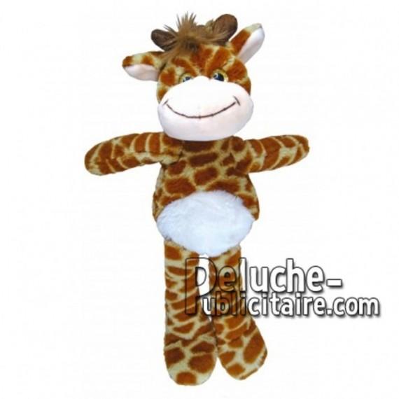 Achat peluche girafe jaune 35cm. Peluche personnalisée.