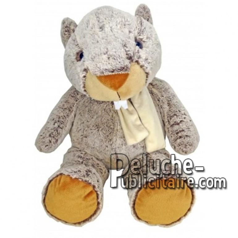 Achat peluche marmotte marron 55cm. Peluche personnalisée.