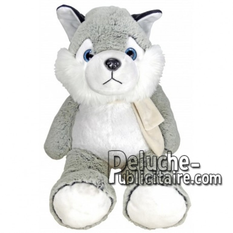 Buy Grey husky dog plush 55cm. Personalized Plush Toy.