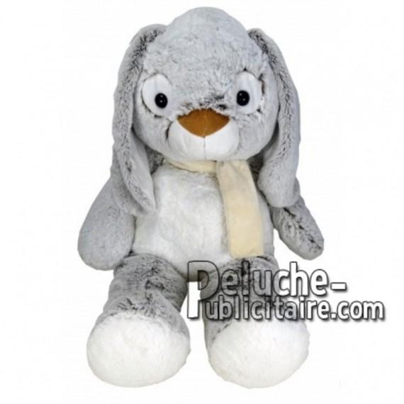 Achat peluche lapin gris 55cm. Peluche personnalisée.