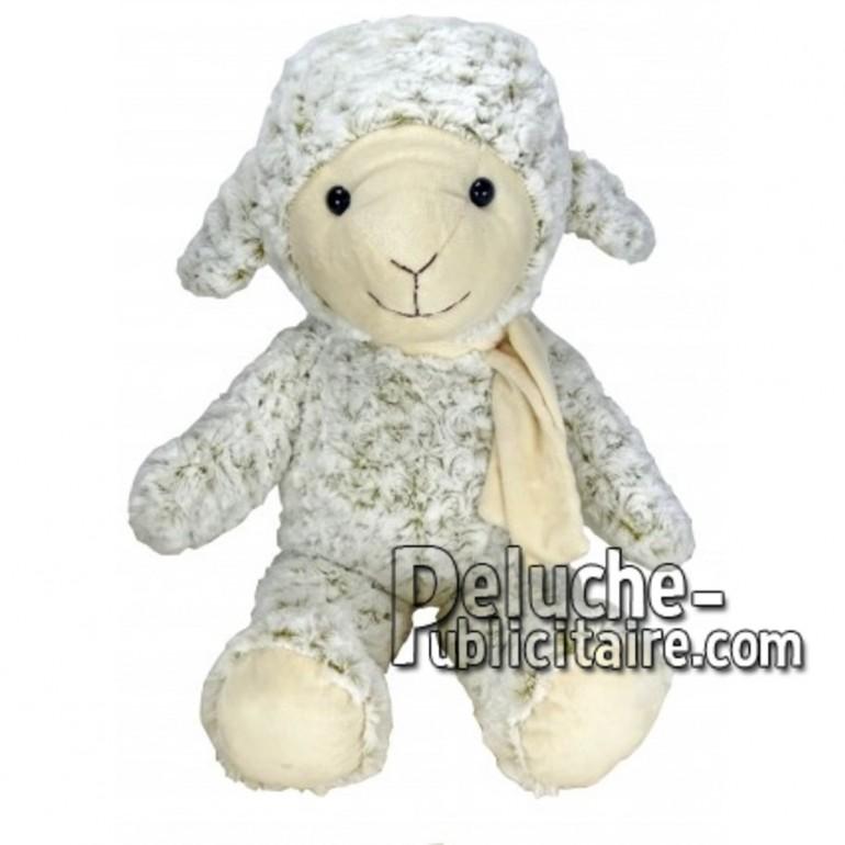 Achat peluche mouton blanc 55cm. Peluche personnalisée.