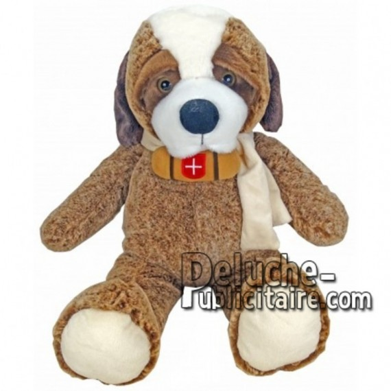 Buy Brown st bernard dog plush 55cm. Personalized Plush Toy.