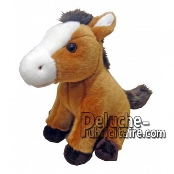 Achat peluche cheval marron 24cm. Peluche personnalisée.
