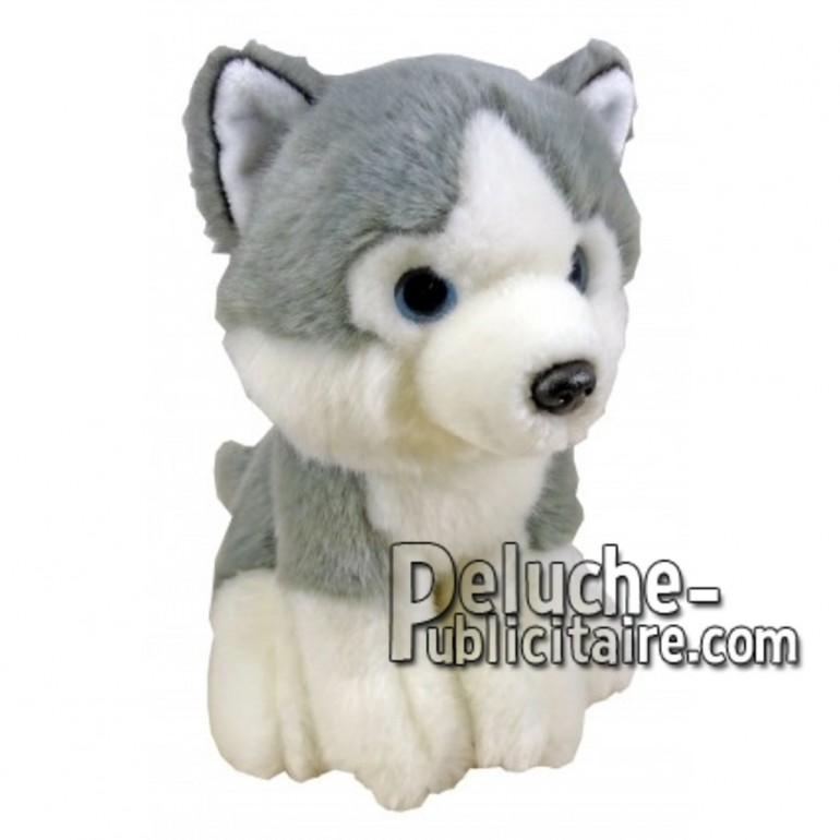 Buy Grey husky dog plush 18cm. Personalized Plush Toy.
