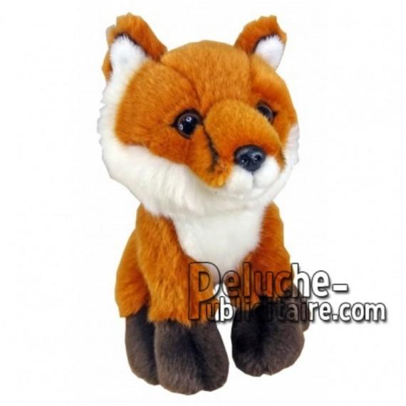 Achat peluche renard marron 18cm. Peluche personnalisée.