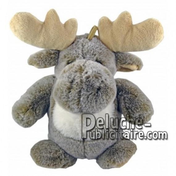 Achat marionnette élan renne gris 25cm. Peluche personnalisée.