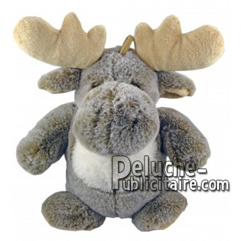 Buy Grey reindeer moose plush 25cm. Personalized Plush Toy.