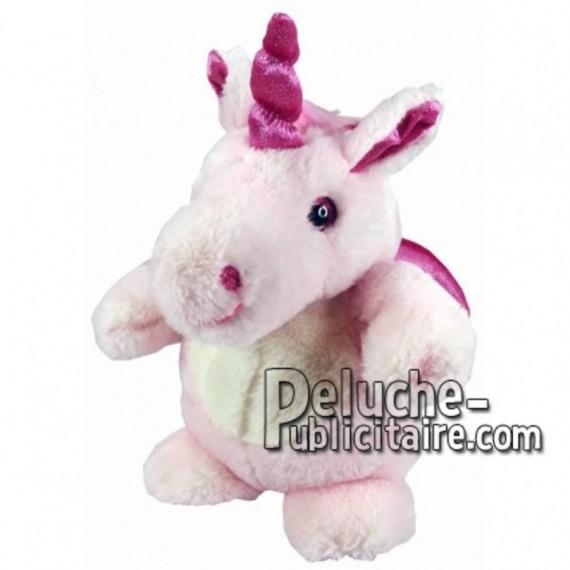 Achat marionnette licorne rose 25cm. Peluche personnalisée.