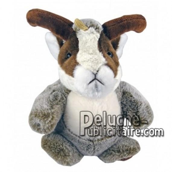 Achat marionnette chamois marron 25cm. Peluche personnalisée.