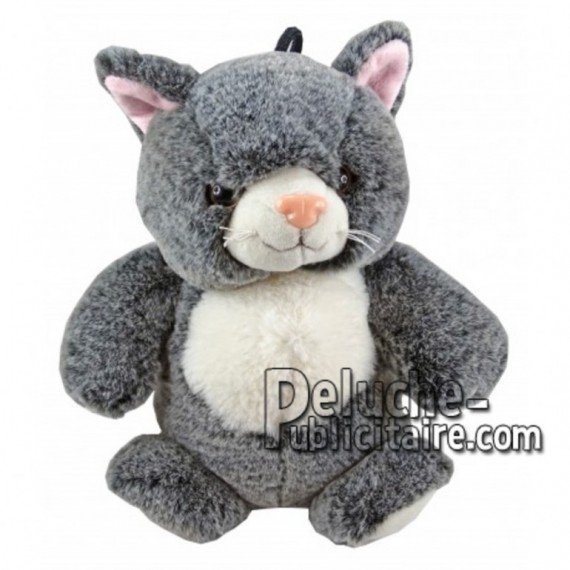 Buy Grey cat plush 25cm. Personalized Plush Toy.