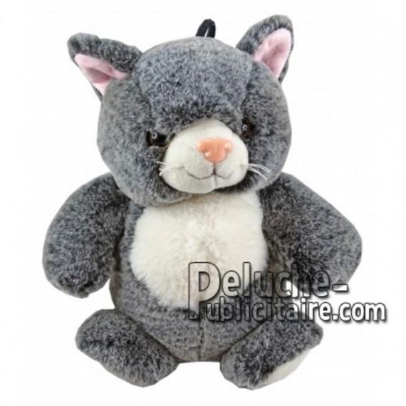 Buy Grey cat plush 25cm. Personalized Plush Toy.
