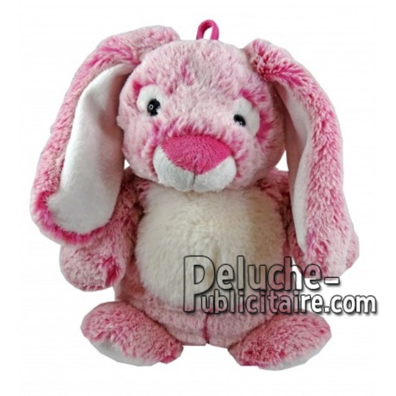 Achat marionnette lapin rose 25cm. Peluche personnalisée.