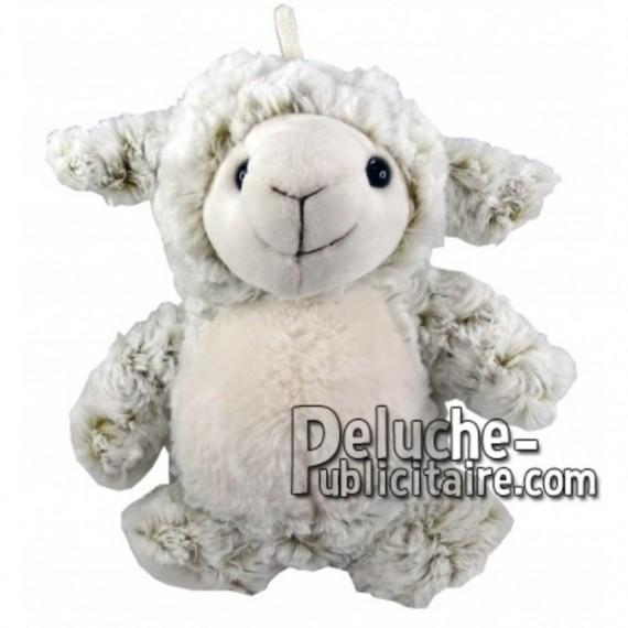 Achat marionnette mouton blanc 25cm. Peluche personnalisée.