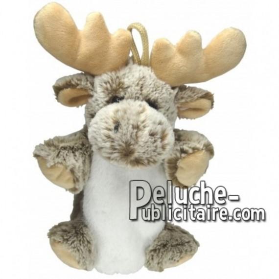Achat marionnette élan renne marron 20cm. Peluche personnalisée.