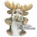 Buy Brown reindeer moose plush 20cm. Personalized Plush Toy.