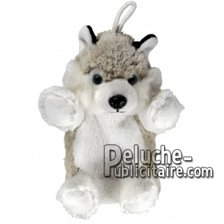 Buy Grey husky dog plush 20cm. Personalized Plush Toy.