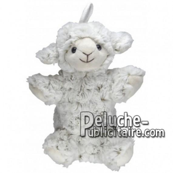 Achat marionnette mouton blanc 20cm. Peluche personnalisée.