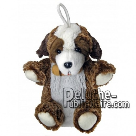 Buy Brown st bernard dog plush 20cm. Personalized Plush Toy.