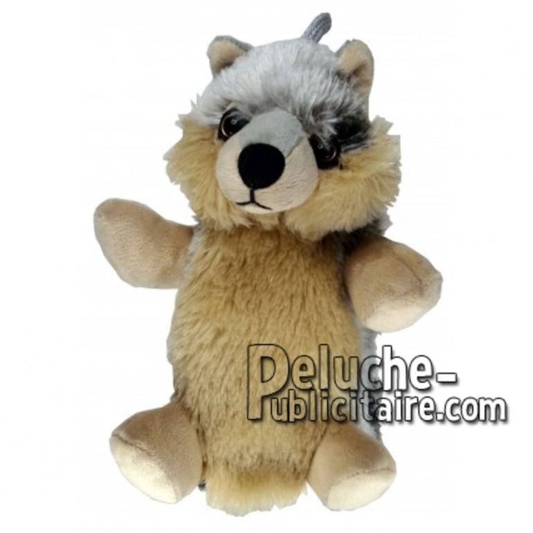 Achat marionnette loup marron 20cm. Peluche personnalisée.