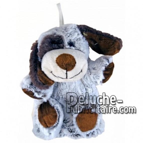 Achat marionnette chien marron 20cm. Peluche personnalisée.