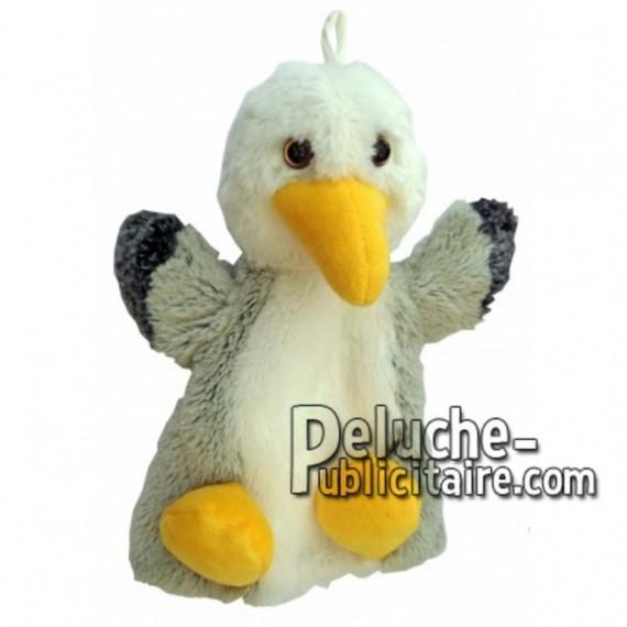 Achat marionnette mouette blanc 20cm. Peluche personnalisée.