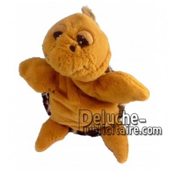 Achat marionnette tortue marron 20cm. Peluche personnalisée.