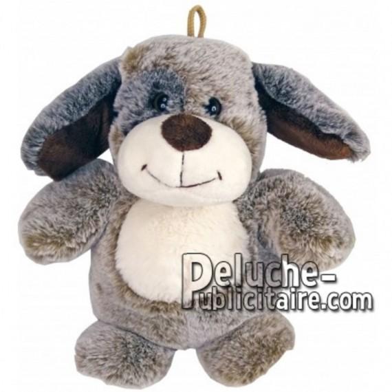 Achat marionnette chien marron 25cm. Peluche personnalisée.