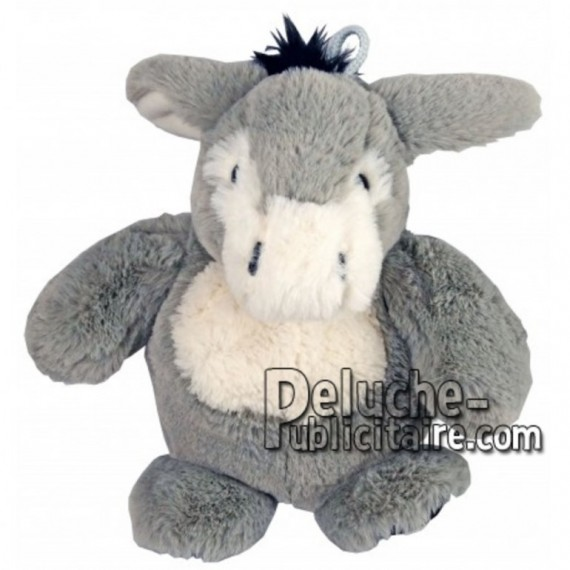 Achat marionnette âne gris 25cm. Peluche personnalisée.
