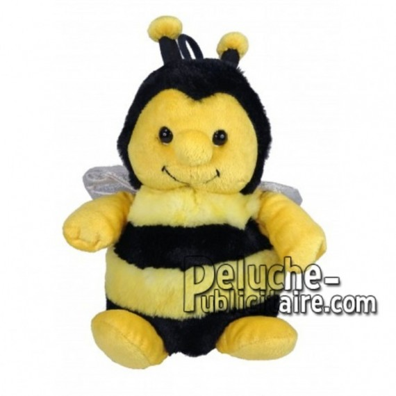 Achat marionnette abeille jaune 25cm. Peluche personnalisée.