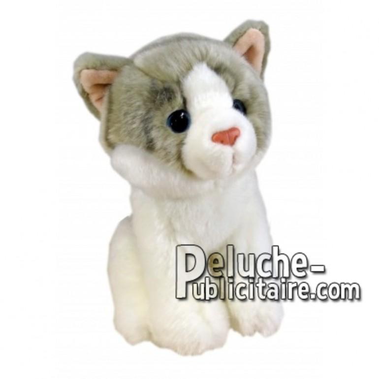 Achat peluche chat blanc 18cm. Peluche personnalisée.