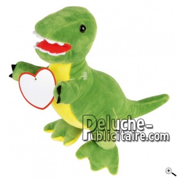 Buy green dinosaur peluche 24cm. Personalized Plush Toy.