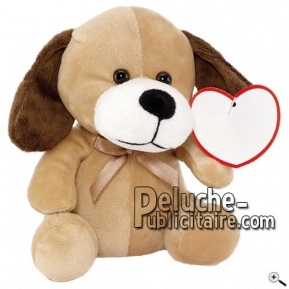 Achat peluche chien marron 16cm. Peluche personnalisée.