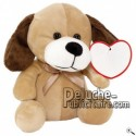Buy Brown dog peluche 16cm. Personalized Plush Toy.