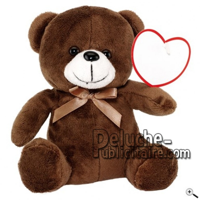 Buy Brown bear peluche 16cm. Personalized Plush Toy.