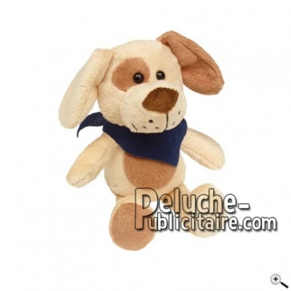 Achat peluche chien marron 18cm. Peluche personnalisée.